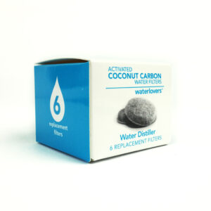 Boite de 6 filtres charbon actif pour Distillateur d'eau MKII Waterlovers